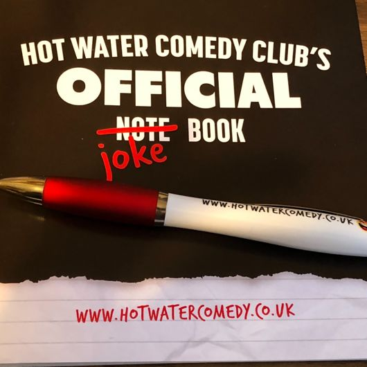 Official Hot Water Comedy Notebook & Pen Set